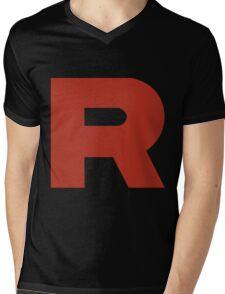 Team Rocket R Mens V-Neck T-Shirt