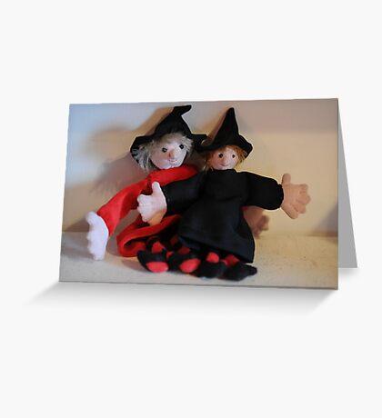Zoe and Zeta, Mini Witches Greeting Card
