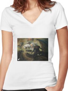 Sidharth Chaturvedi Women's Fitted V-Neck T-Shirt