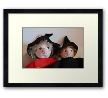 Zoe and Zeta Framed Print
