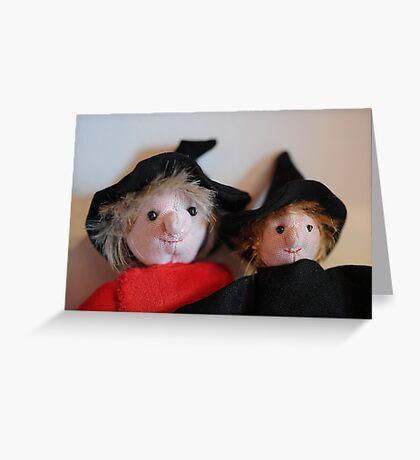 Zoe and Zeta Greeting Card