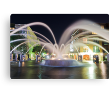 Nocturnal Fountain Canvas Print