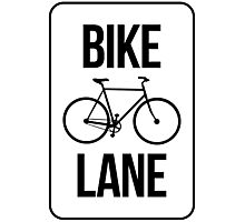 Bike Lane Photographic Print