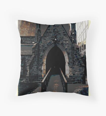 A TORONTO CHURCH, BLOOR STREET  Throw Pillow