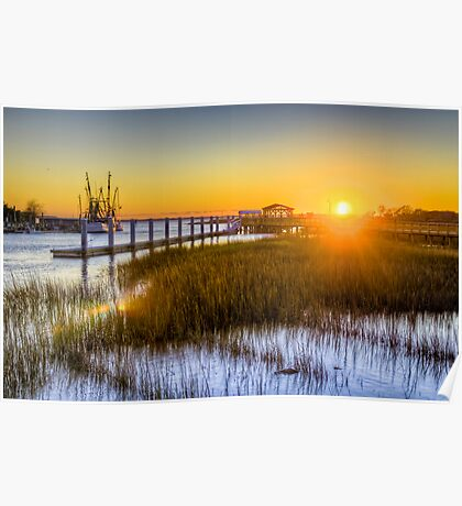 Shem Creek Sunset Poster