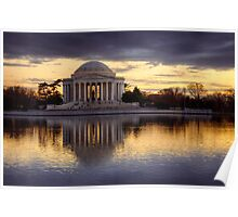 Jefferson Memorial at Sunset, Washington D.C. Poster