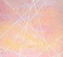 Abstract Pink and White Geometric by shabacadesigns
