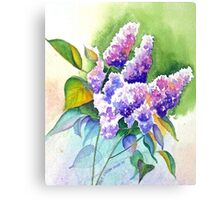 Lilacs in Lavender Canvas Print