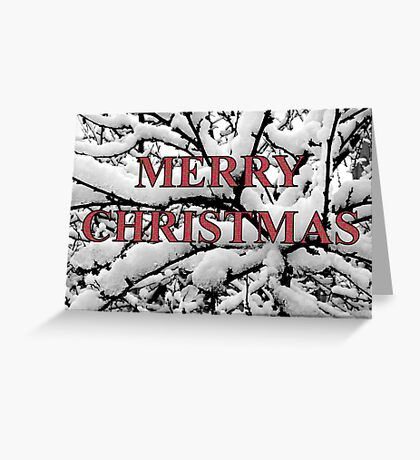 winter tree abstract christmas card Greeting Card