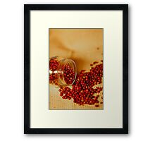 Hot and chilly peppercorns Framed Print