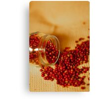 Hot and chilly peppercorns Canvas Print