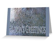 frosty the windowpane seasons greetings Greeting Card