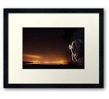 Stick Man - Rock Climbing Framed Print