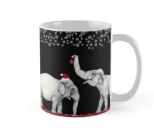 Merry Elephants Wearing Santa Hats Mug
