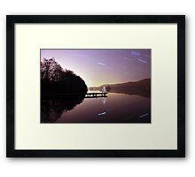 Stick Man - Lakeside 1 Framed Print