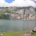 Bench at Oeschinensee by violetvoodoo