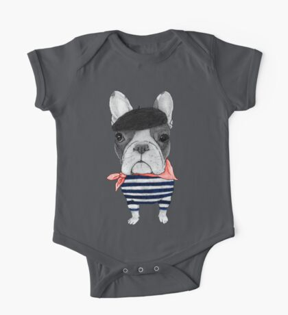 Frenchie With Arc de Triomphe One Piece - Short Sleeve