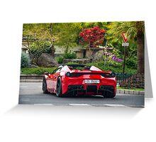 Ferrari 458 Speciale Aperta  Greeting Card