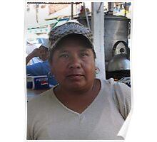 Mexican woman II - Mujer Mexicana, Puerto Vallarta, Mexico Poster