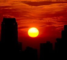sunset in makati 2 by francis estanislao