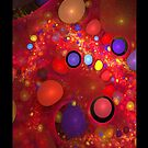 Skittles in My Lava Lamp Red iPhone Case by christopher r peters