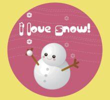I Love Snow Kids Tee