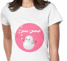 I Love Snow Womens Fitted T-Shirt