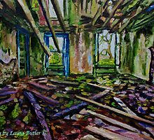 """""""Echoes of the Past, Ruined Country House in the Townland of Ballypriorbeg, County Antrim"""" by Laura Butler"""