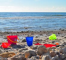 Buckets on the Beach by joevoz
