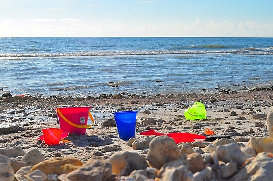 Buckets on the Beach by joevoz