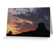 Towering Sunset Greeting Card