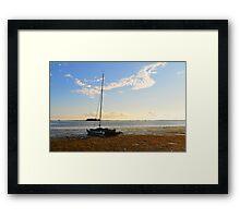 Sail Boat Run Aground Framed Print