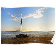 Sail Boat Run Aground Poster