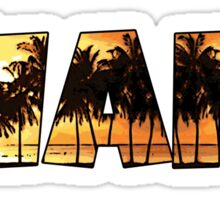 Miami palm tree word art Sticker