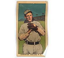 Benjamin K Edwards Collection Christian Oakland Team baseball card portrait Poster