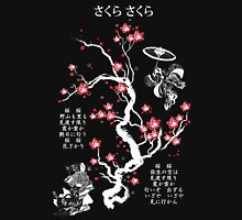 Sakura Sakura (White) Womens Fitted T-Shirt