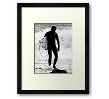 Into the Fray! Framed Print