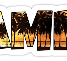 Tampa Florida palm trees word art Sticker