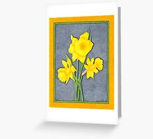Daffodil Glory Greeting Card