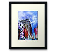 Downtown Baltimore in HDR Framed Print