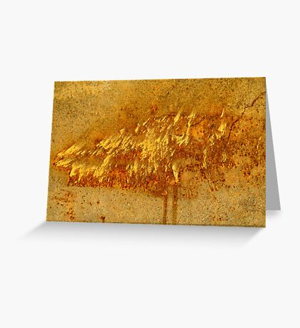 Rusty dust storm Greeting Card