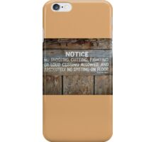 The Law West of the Pecos River iPhone Case/Skin