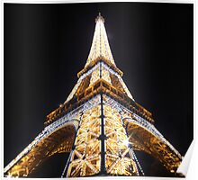The Eiffel Tower Lightshow Poster