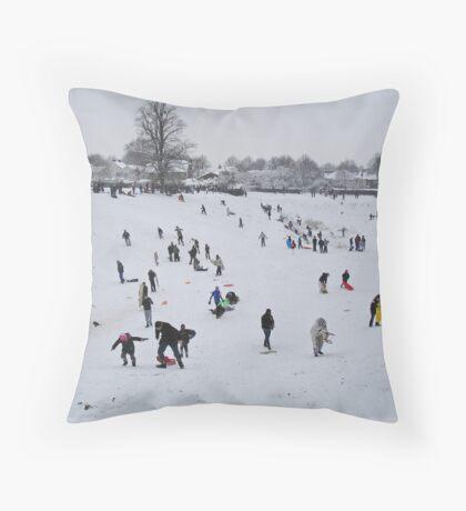 L.S.Lowry paints the Park... Throw Pillow
