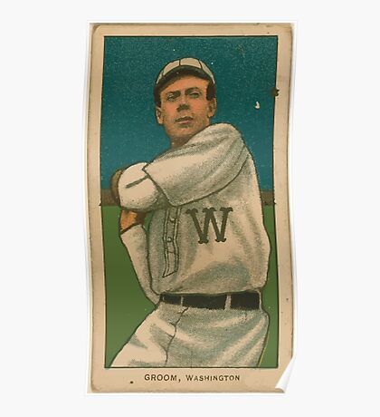 Benjamin K Edwards Collection Bob Groom Washington Nationals baseball card portrait 001 Poster