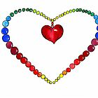 colourful heart by Renata Lombard