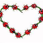 ladybird heart by Renata Lombard
