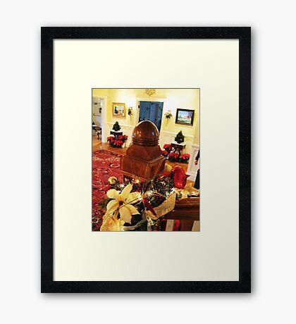 The Christmas Bannister Framed Print