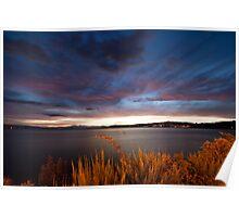 Lake Taupo Sunset, New Zealand Poster