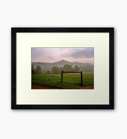 Early Morning - Cades Cove, Tennessee Framed Print